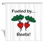 Fueled by Beets Shower Curtain