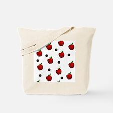 Apple rain pattern Tote Bag