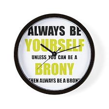 Always Be Brony Wall Clock
