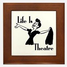 Life Is Theatre Retro Theater Framed Tile