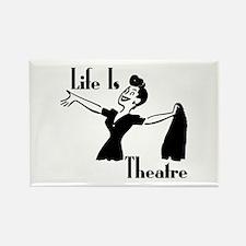 Life Is Theatre Retro Theater Rectangle Magnet (10
