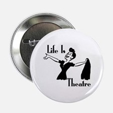 Life Is Theatre Retro Theater Button