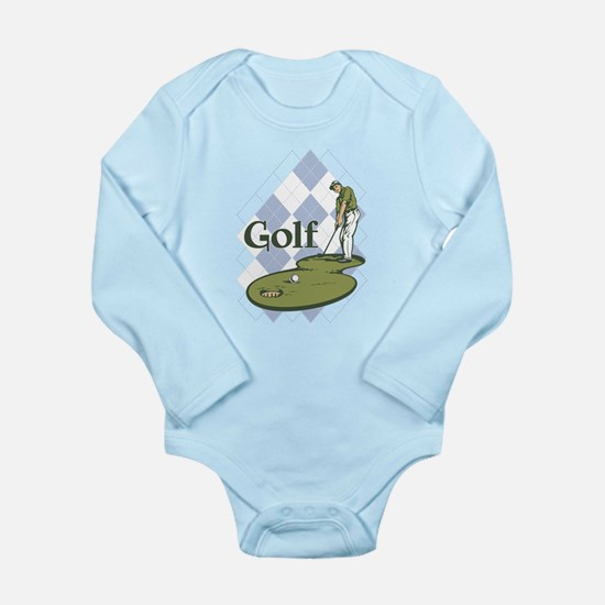 Classic Golf Long Sleeve Infant Bodysuit