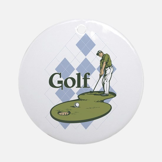 Classic Golf Ornament (Round)