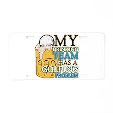 Golf Drinking Team Aluminum License Plate