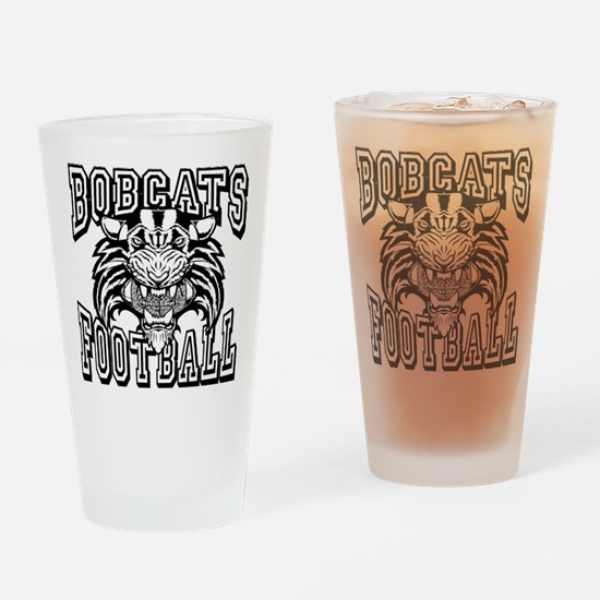 Bobcats Football Drinking Glass