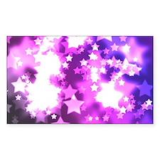 Purple starry design Decal