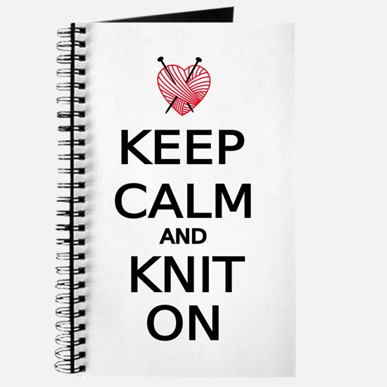 Keep calm and knit on Journal