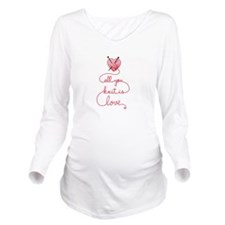 All you knit is love Long Sleeve Maternity T-Shirt