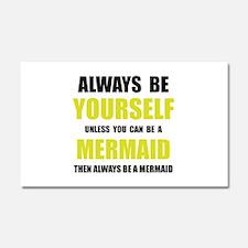 Always Be Mermaid Car Magnet 20 x 12