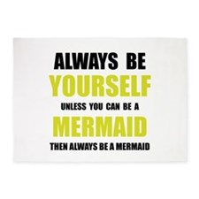Always Be Mermaid 5'x7'Area Rug