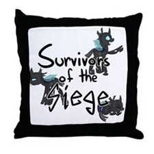 Survivors of the Siege (Logo) Throw Pillow