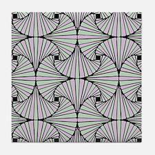 Fan Dance Tile Coaster