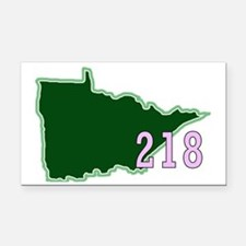 218 Minnesota Rectangle Car Magnet