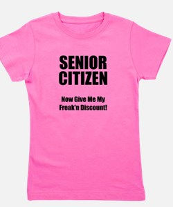 Senior Citizen Black.png Girl's Tee