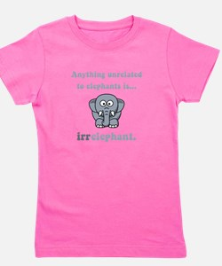 Irrelephant Grey.png Girl's Tee