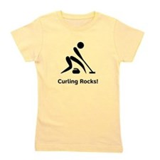 Curling Rocks Black.png Girl's Tee