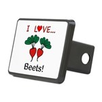 I Love Beets Rectangular Hitch Cover