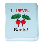 I Love Beets baby blanket