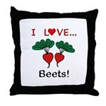 I Love Beets Throw Pillow