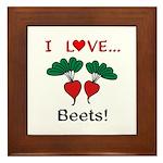 I Love Beets Framed Tile