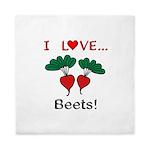 I Love Beets Queen Duvet