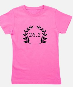Marathon Leaves Black.png Girl's Tee