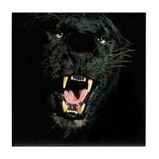 Black Panther Face Tile Coaster