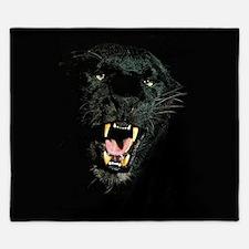 Black Panther Face King Duvet