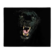 Black Panther Face Throw Blanket