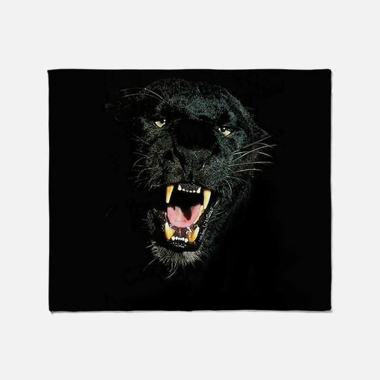 Black Panther Face Throw Blanket