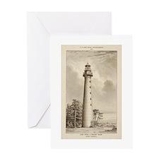 Hunting Island Light. Greeting Card