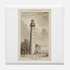 Hunting Island Light. Tile Coaster