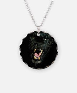 Black Panther Face Necklace
