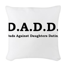 DADD Black.png Woven Throw Pillow