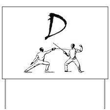D Fencing Black.png Yard Sign