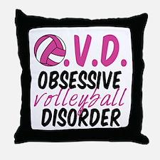 Cute Volleyball Throw Pillow