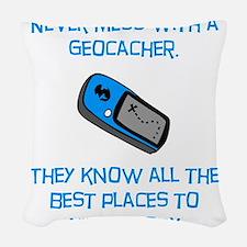 Geocacher Body Blue.png Woven Throw Pillow