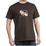 3-Note I Vi Ii V7 Chords T-Shirt Dark