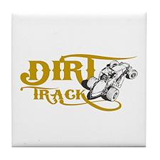Dirt Track Sprint Car Tile Coaster