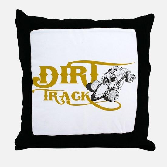Dirt Track Sprint Car Throw Pillow