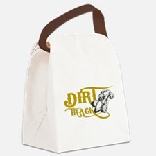 Dirt Track Sprint Car Canvas Lunch Bag