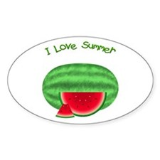 Watermelon Summer Oval Decal