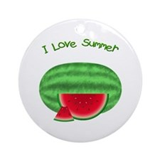 Watermelon Summer Ornament (Round)