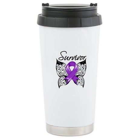 Survivor Fibromyalgia Stainless Steel Travel Mug