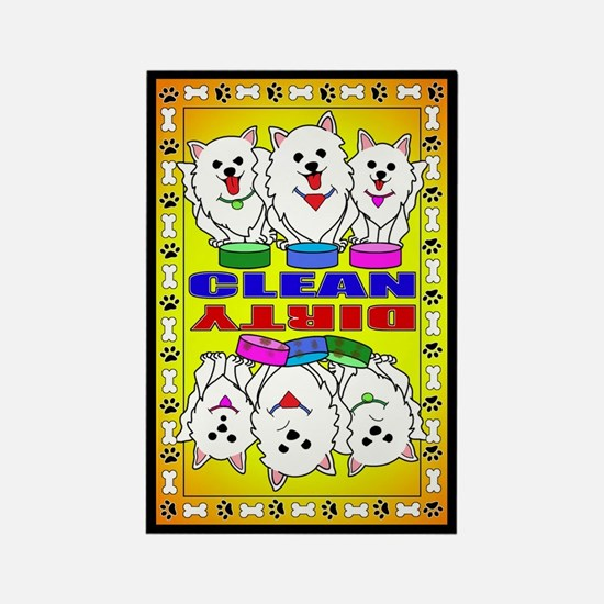 American Eskimo Dog Clean And Dir Magnets
