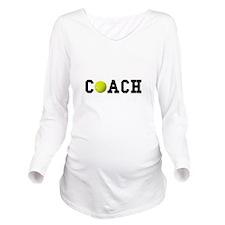 Tennis Coach Long Sleeve Maternity T-Shirt