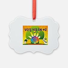Vote Yes on Amendment #2 Florida Ornament