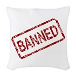 Banned Stamp Woven Throw Pillow