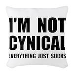Not Cynical Woven Throw Pillow